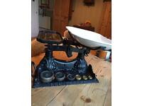 Cast iron weighing scales vintage