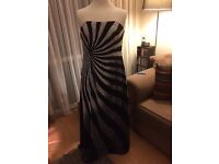 Size 14 Heavily beaded stunning strapless evening dress and shawl