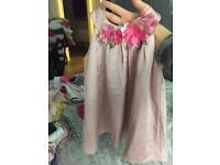 Girls pink Monson dress