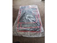 Vauxhall Corsa D Fitted Car Mats (Black w/ Red Trim)