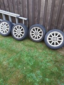 15 inch alloys with tyres