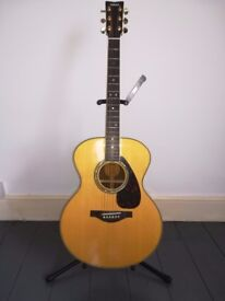 YAMAHA LJ16 ARE ACOUSTIC GUITAR INCLUDING CASE, SUPERB CONDITION, HOME USE ONLY