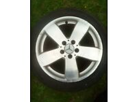 MERCEDES 17 INCH RUCHA STYLE ALLOY WHEEL WITH TYRE 235/45/17