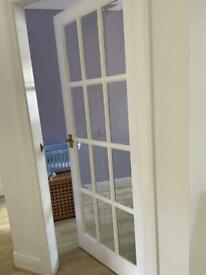 Set of 5 glass pane interior doors