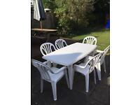 White garden furniture