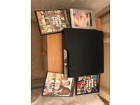 PlayStation 3 console + 4 games - no cables or controllers