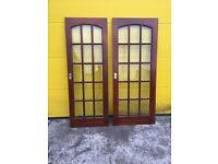 MAHOGANY GLASS PANALLED INTERNAL DOORS