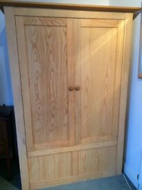 solid wooden wardrobe now dismantled ready for easy collection