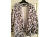 New look waterfall jacket size 14