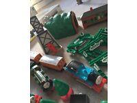 Tomica Train set, huge amount, trains, station track