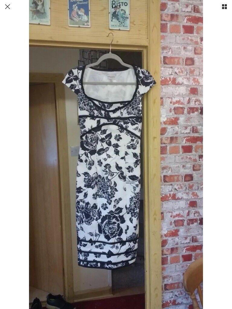 Karen millen lined black/ white dress