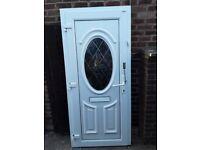 Upvc door 2025mm x 900mm with new lock barrel and keys