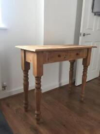 Solid pine console / hallway table dressing table with drawers