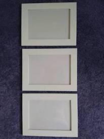 3X New 7X5 White Photo Frames