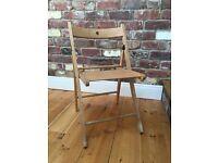 Folding Wooden Chair x 4
