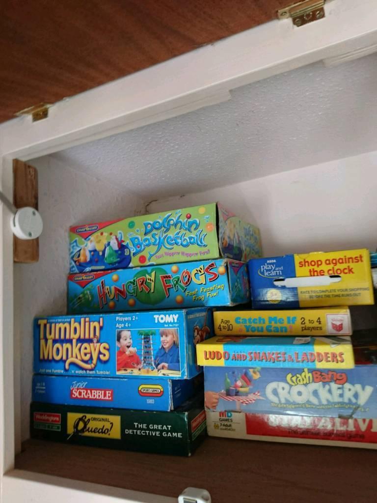 Lots of children's board games / toys eg hungry frogs tumblin' monkeys scrabble etc