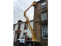 CHERRY PICKER FOR HIRE EXTERIOR PAINTING/PAINTER/PRESSURE WASHING AYRSHIRE