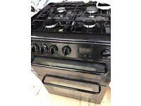 Black chrome Hotpoint cooker.