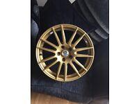 Subaru STI prodrive GT1 gold alloy wheels