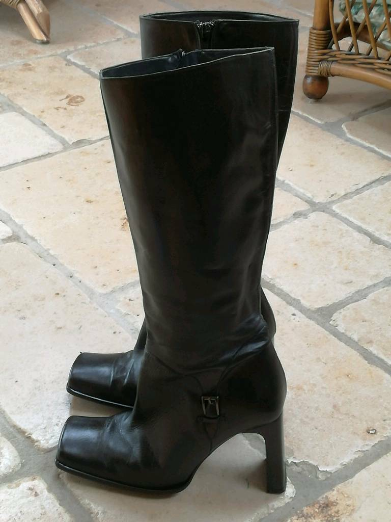 REDUCED Faith Ladies black leather boots