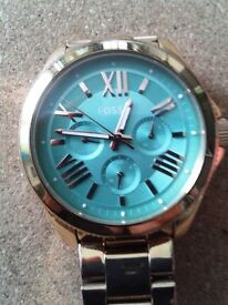 FOSSIL 'CECILE' Rose-tone Stainless Steel Watch - Green dial