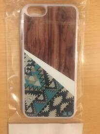 iPhone 6 and 6S Case - Aztec / Wood BRAND NEW