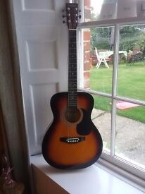 Guitar - Falcon F300SB Sunburst & padded protective guitar case