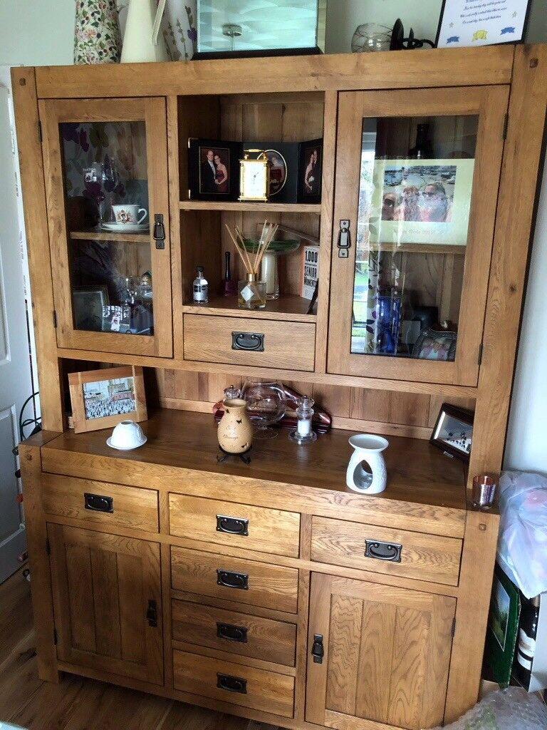 Oak Furniture Land Quercus Rustic Solid Oak Dresser In Wirral