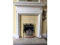 Pair of wooden Victorian fire surrounds