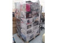 WHOLESALE JOB LOT OF LARGE CUSTOMER ELECTRICAL& HOUSEHOLD MIX PALLETS