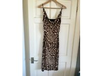 Ladies guess leopard print dress