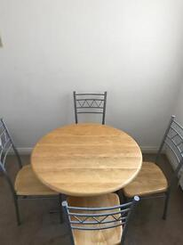 Modern table and 4 chairs - bargain !