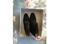 New - Lady's ankle high suede boots, UK size 4