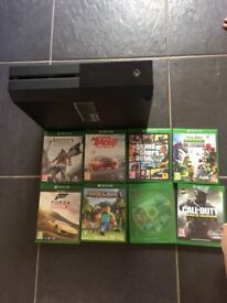Xbox one comes with controller and selection of games