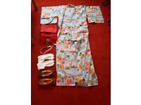 Genuine Japanese Yukata Light Kimono and Accessories