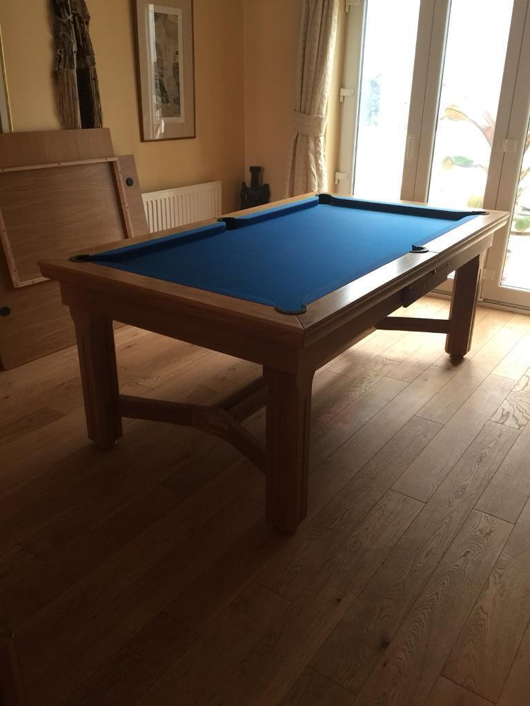 Foot Solid Oak Slate Bed Pool Dining Table In Warwick - 6 foot pool dining table