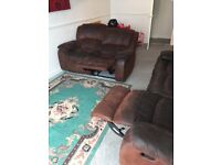 2 seater + 3 seater recliner sofa (free)