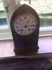 Beautiful vintage chiming pendulum arched clock
