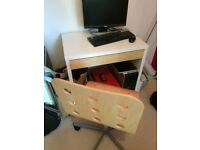 Ikea Micke computer desk and chair