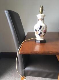 Mason ironstone lamp