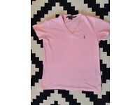 Ralph lauren baby pink tshirt size S