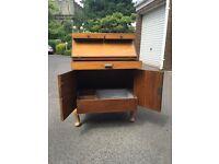 Walnut Wooden bureau / desk / drinks cabinet