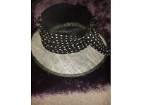 Black & Neutral Formal Hat with bow