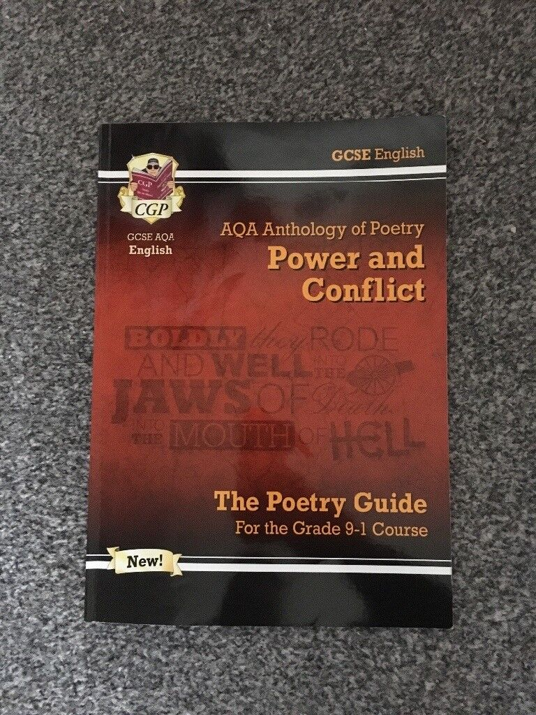 AQA power and conflict poetry clister revision guide GCSE English literature