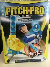 Baseball Remote Pitching Machine! Awesome kids toy - baseball game they control! Perfect for beach!