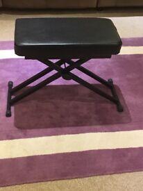 Double black adjustable piano stool