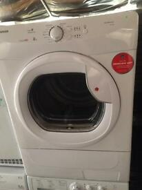 White Hoover 8kg condenser dryers good condition with guarantee bargain