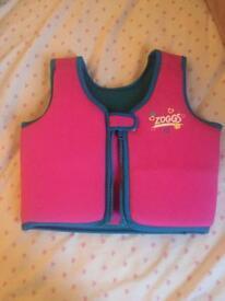 Zoggs swim vest age 4-5