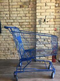 Blue Shopping Trolley