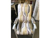 Newly Upholstered High Back Chair